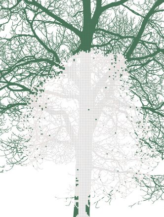 Charles Gaines - Numbers and Trees: Tiergarten Print Series, #1 - 2018