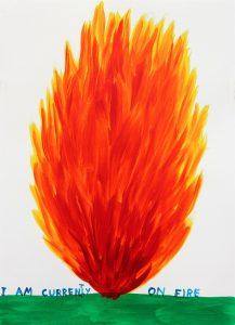 DavidShrigley - I Am Currently OnFire -2018