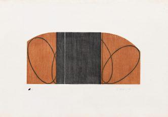 Robert Mangold -Brown/Black Zone-1997