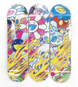 Takashi Murakami - Skate deck set of 3