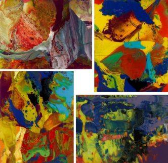 Gerhard Richter - P8, P9, P10, P11 - 2014