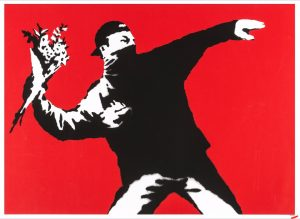 Banksy - Love is in the Air  (Flower Thrower) - 2003