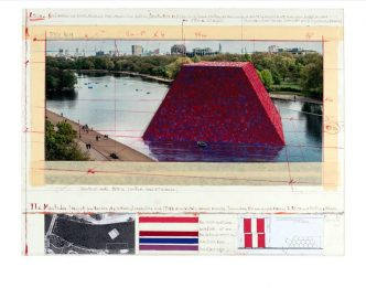 Christo - The Mastaba (Project for London, Hyde Park, Serpentine Lake) 2018