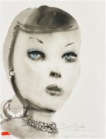 Marlene Dumas - Barbie (with pearl necklace) - 1997