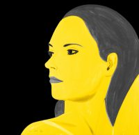 Alex Katz - Yellow Laura - 2018