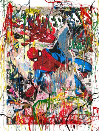 Mr Brainwash - Spider-man (hand finished ) - 2019