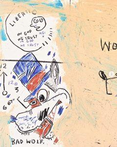 Jean-Michel Basquiat - Wolf Sausage - 2019