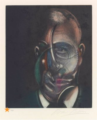 Francis Bacon - Portrait de Michel Leiris - 1990