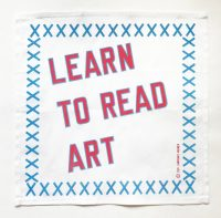 Lawrence Weiner -LEARN TO READ ART -2019
