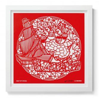 Ai Weiwei - Papercut 3 -Map of China