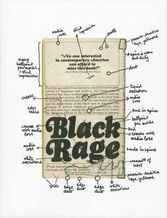 Glenn Ligon -Black Rage (back cover) -2019