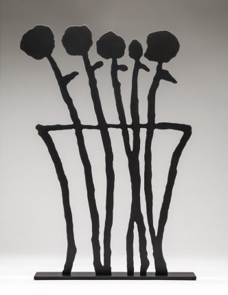 Donald Baechler - Black Flowers (sculpture) - 2019