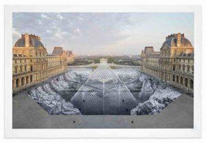 JR au Louvre, 30 Mars 2019, 6h50 © Pyramide, architecte I. M. Pei, musée du Louvre, Paris, France, 2019