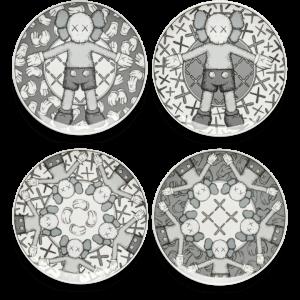 KAWS -HolidayPlate Set (Grey)