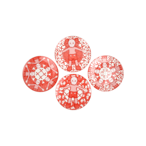 KAWS - Holiday Plate Set (Pink) - 2019