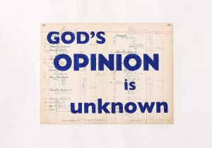 William Kentridge - God's Opinion Is Unknown - 2019