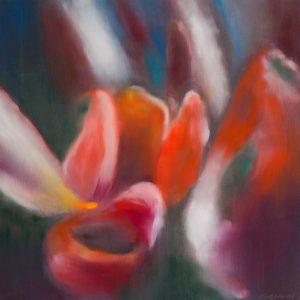 Ross Bleckner - 5 Tulips - 2019