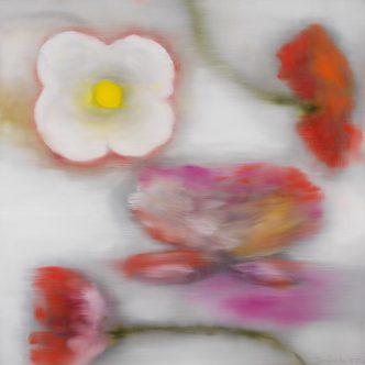 Ross Bleckner - Light Flower (C.T.) - 2019