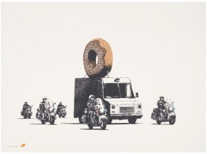 Banksy - Donuts (Chocolate) - 2009