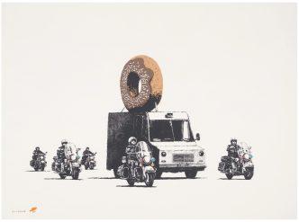 Banksy -Donuts (Chocolate)- 2009