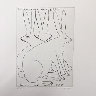 David Shrigley - 4 new Etchings - Feb 2020