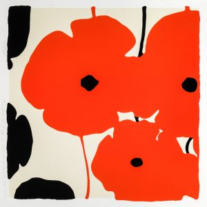 Donald Sultan - Red & Black Poppies Feb 3 2020