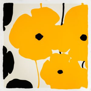 Donald Sultan - Yellow & Black Poppies Feb 3 2020