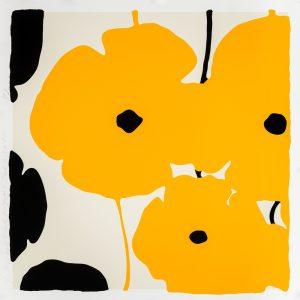 Donald Sultan - Yellow & Black Poppies Feb 3 2020