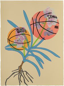 Jonas Wood - Double Basketball Orchid 2 (State I) - 2020