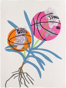 Jonas Wood - Double Basketball Orchid 2 (State II) - 2020