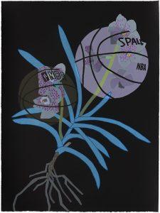 Jonas Wood - Double Basketball Orchid 2 (State III) - 2020