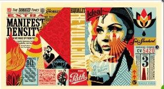 Shepard Fairey - Damaged Wrong Path Mural Large - 2019