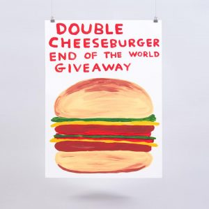 David Shrigley - Double Cheeseburger End Of The World Giveaway - 2020