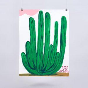 David Shrigley -Keep Your Ass Away From The Cactus- 2020