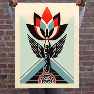 Shepard Fairey - Lotus Angel - 2020