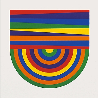 Sol LeWitt - Arcs and Bands in Color image B - 1999