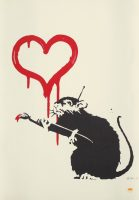 Banksy - Love Rat (Signed) - 2004