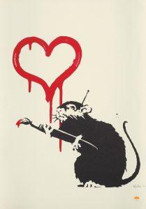 Banksy - Love Rat (Signed) - 2004