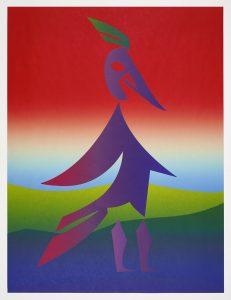 Carlos Amorales - Woodpecker (red) - 2020