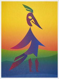 Carlos Amorales - Woodpecker (Yellow) - 2020