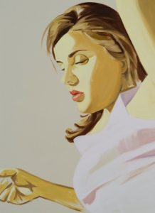 David Salle - Woman with Raised Arm - 2020