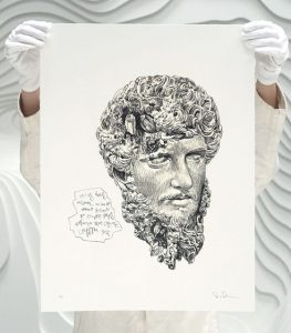 Daniel Arsham - Eroded Classical Prints - Lucius Verus