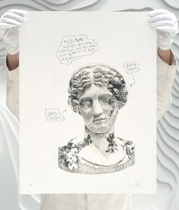 Daniel Arsham - Eroded Classical Prints - Melpomene