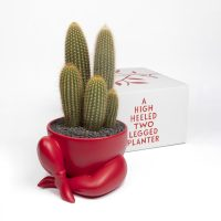 Parra - a high heeled two legged planter (red) - 2020