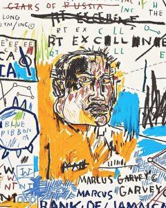 Detail: After Jean-Michel Basquiat - 50 Cent Piece, 1982-83 - 2019