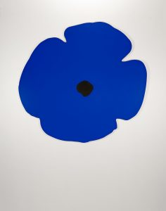 Donald Sultan -Wall Poppy (blue) -2020