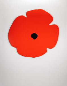 Donald Sultan -Wall Poppy (red) -2020