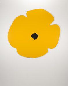 Donald Sultan -Wall Poppy (yellow) -2020
