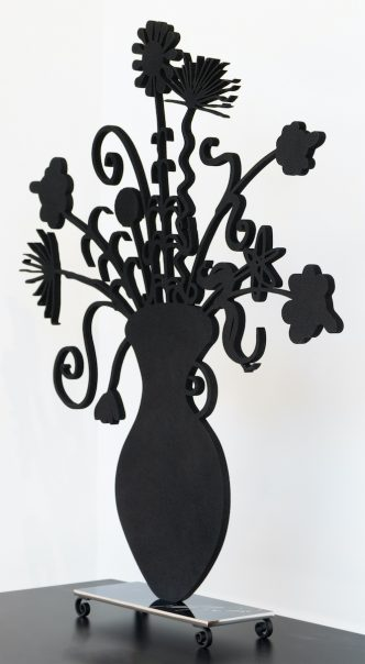 Kenny Scharf - Flores Black - 2020