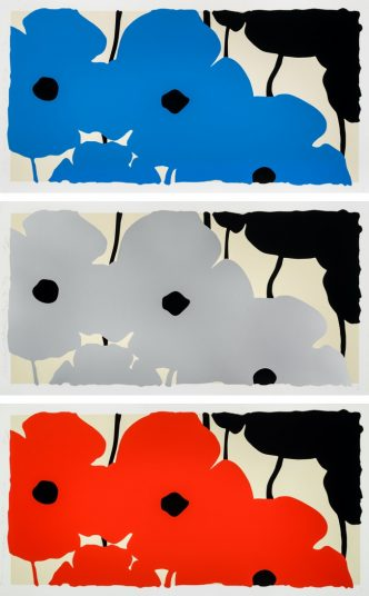 3 new Donald Sultan Poppies prints Aug. 20, 2020